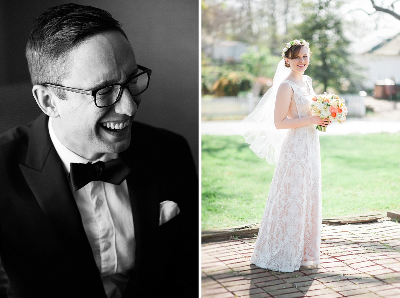 baltimore bride and groom wedding day portraits