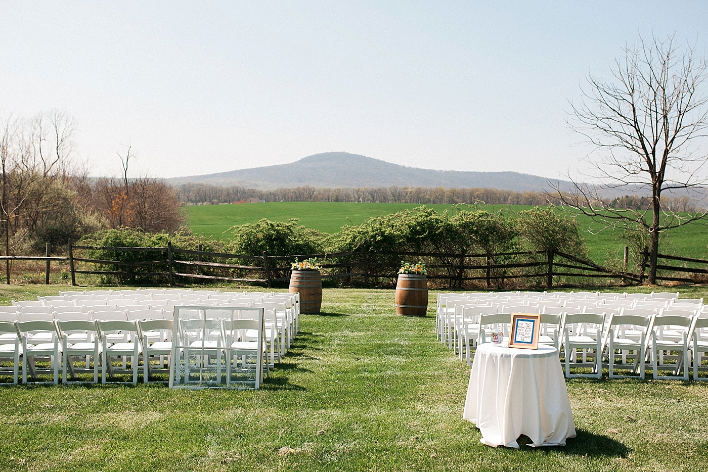 ceremony site overlooking the mountains