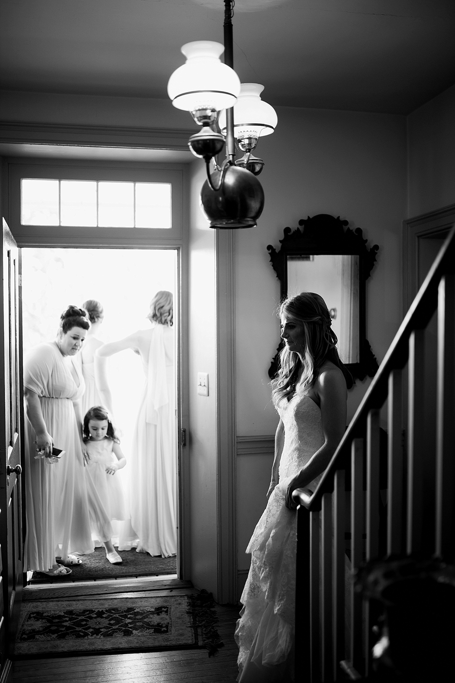 bride waiting to walk down aisle