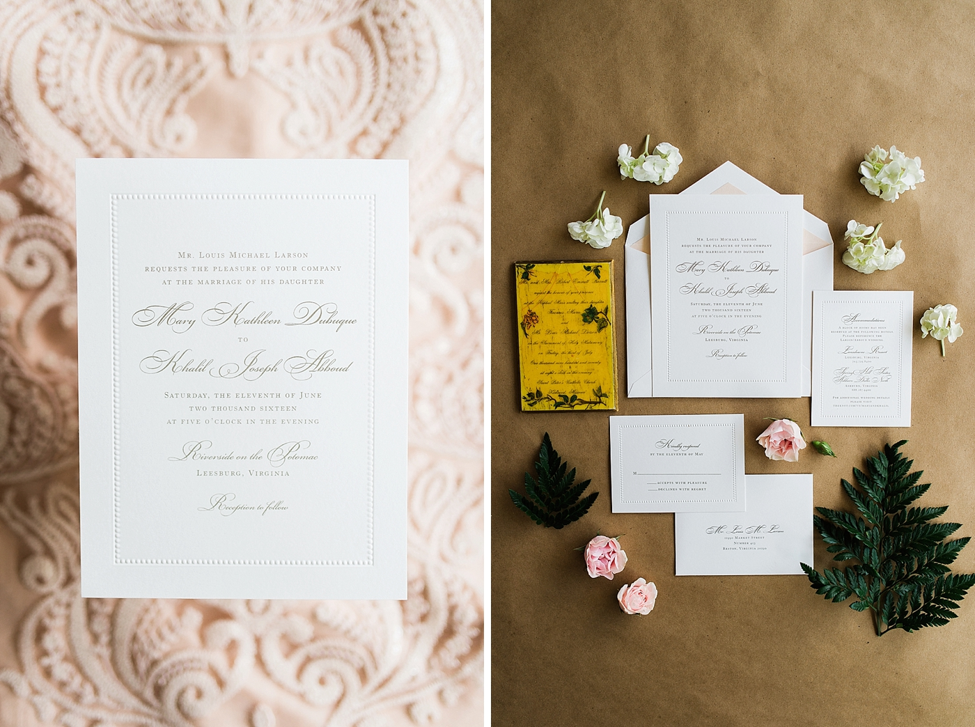 Blush Color wedding invitations