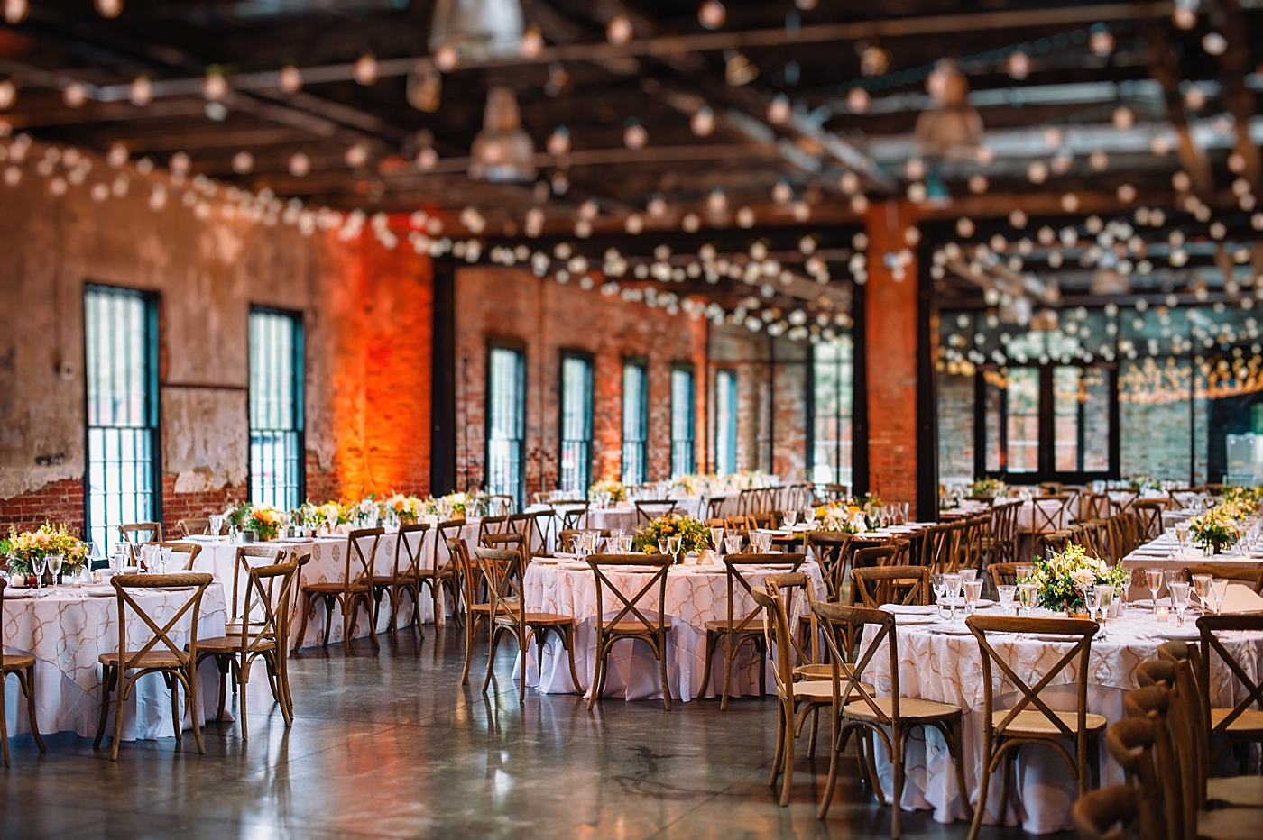 Mt Washington Mill Dye House Wedding Reception