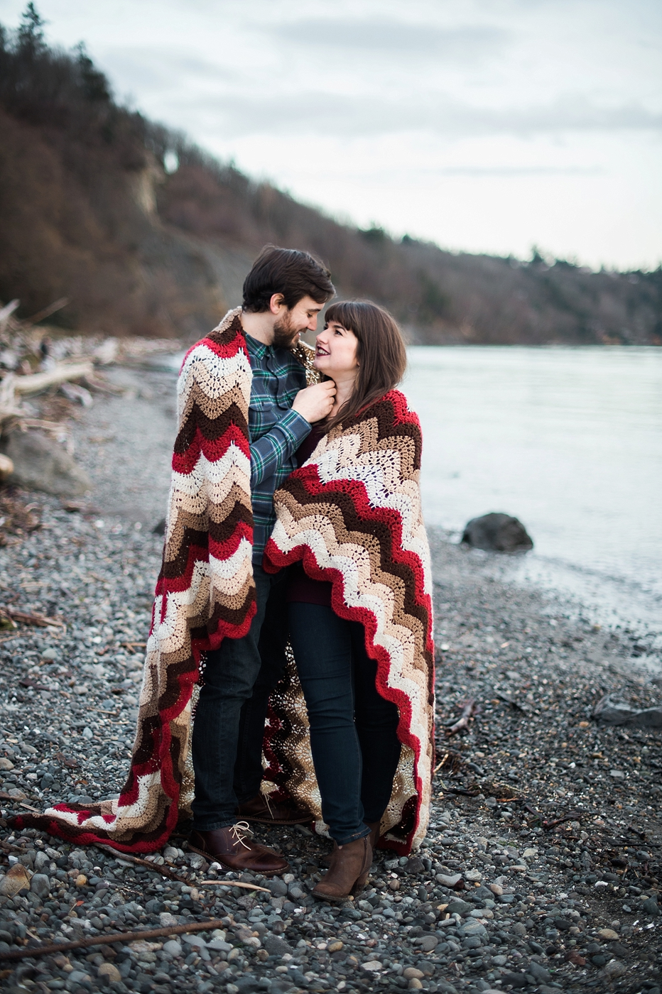 couple in blanket at discovery park