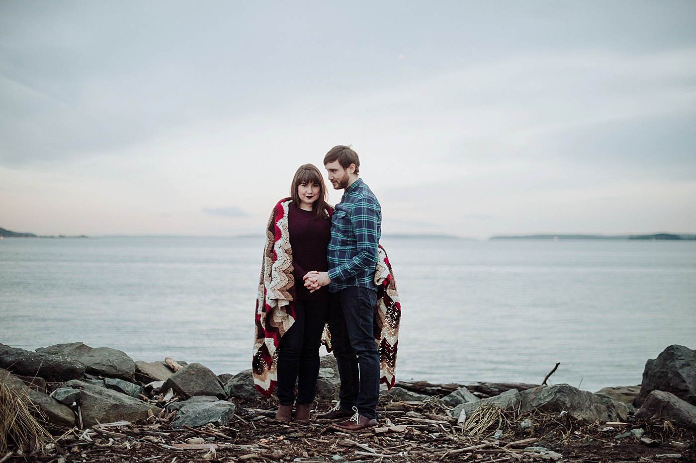 discovery park engagement photos