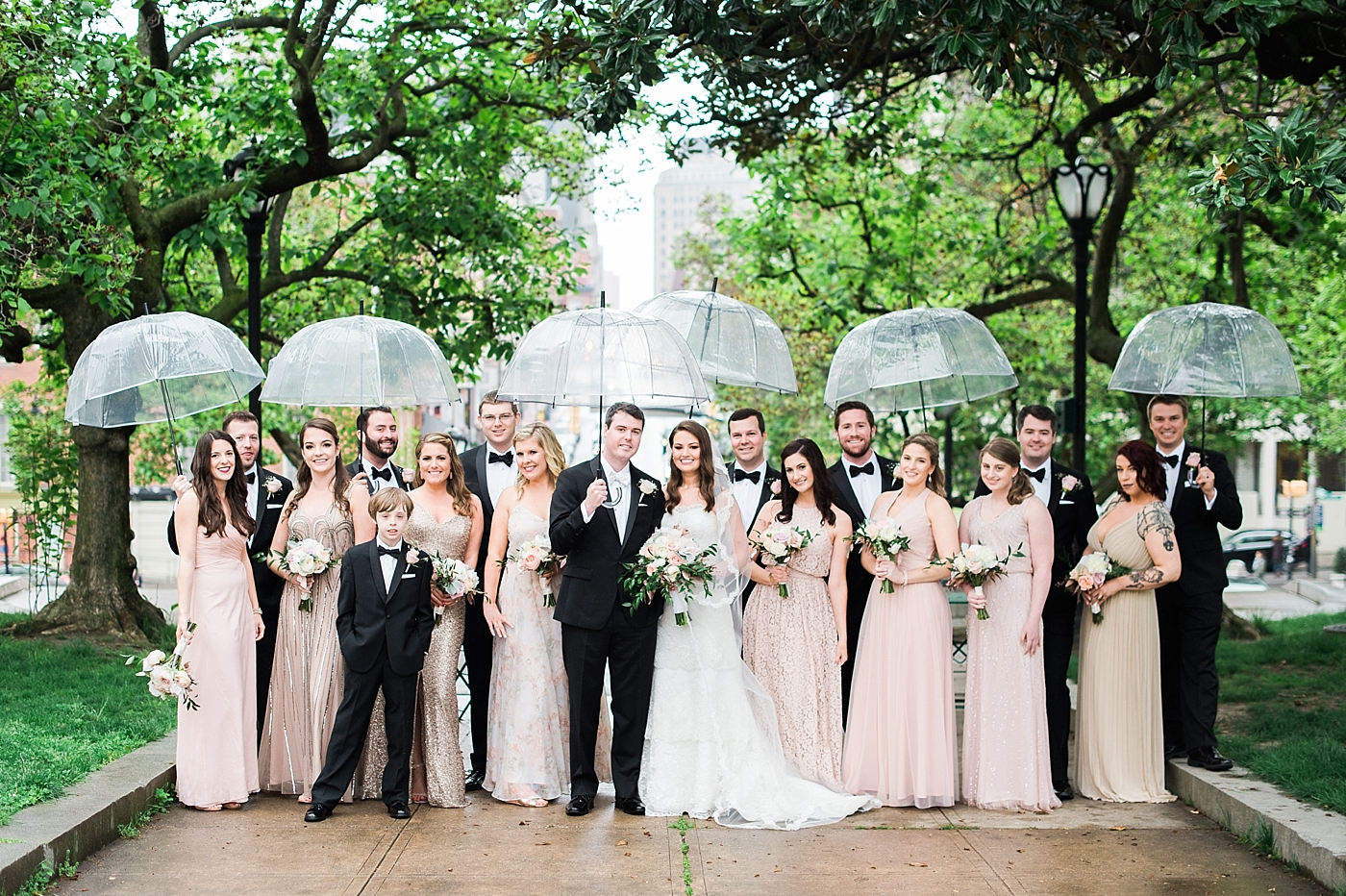 Baltimore bridal party