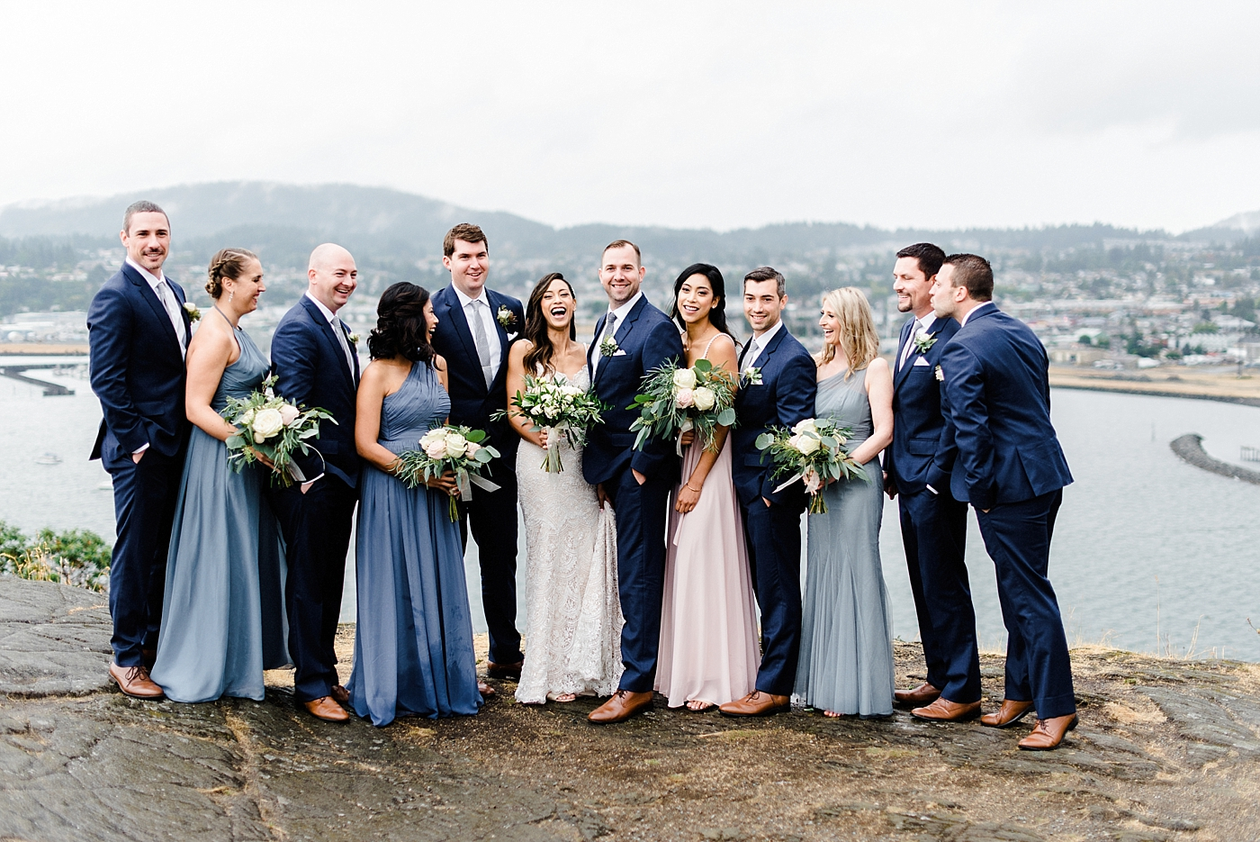 Anchorets wedding bridal party photos